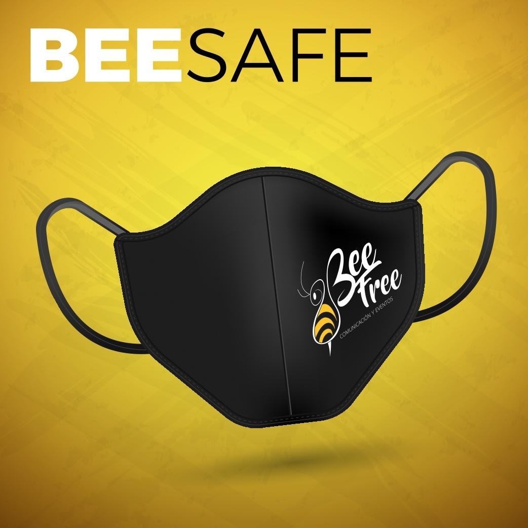 Mascarilla Merchandising Bee Free